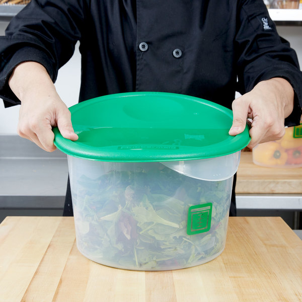 Rubbermaid 1980388 Color Coded 12 18 and 22 Qt Green Round Food
