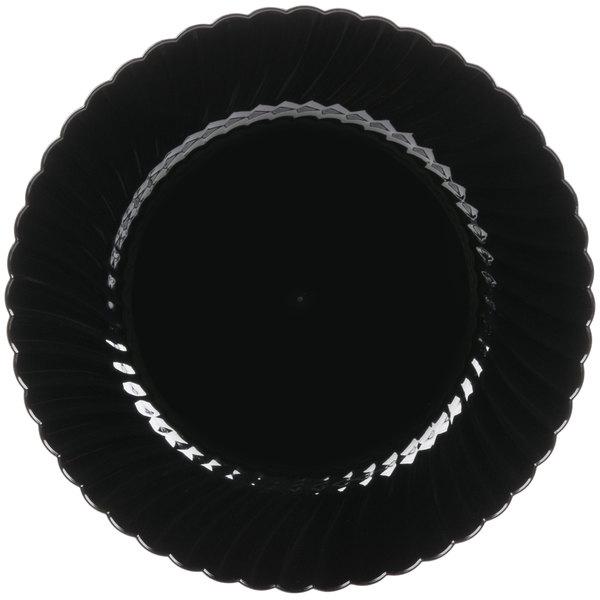 WNA Comet CW10144BK Classicware 10 1/4 inch Black Plastic Plate - 18/Pack