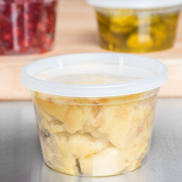ChoiceHD 16 oz. Microwavable Translucent Plastic Deli Container and Lid Combo Pack - 240/Case