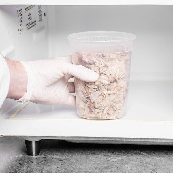 ChoiceHD 32 oz. Microwavable Translucent Plastic Deli Container - 480/Case