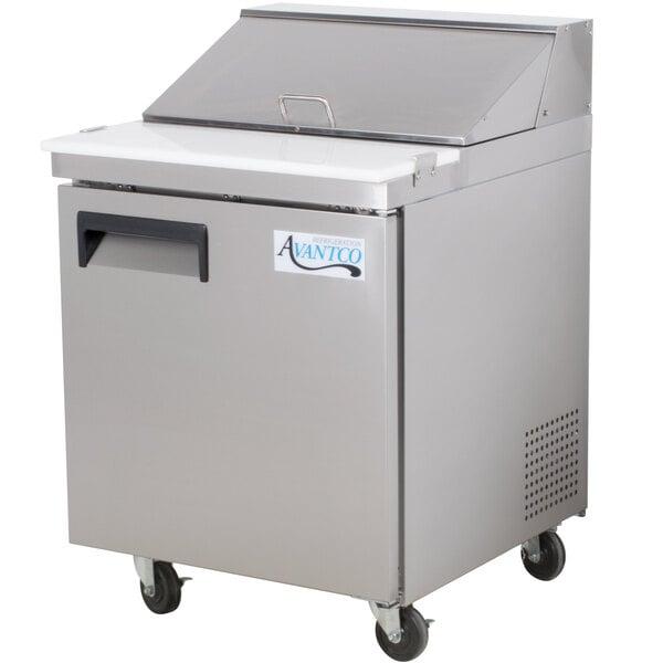 """Avantco APT-27 27"""" 1 Door Refrigerated Sandwich Prep Table Main Image 1"""