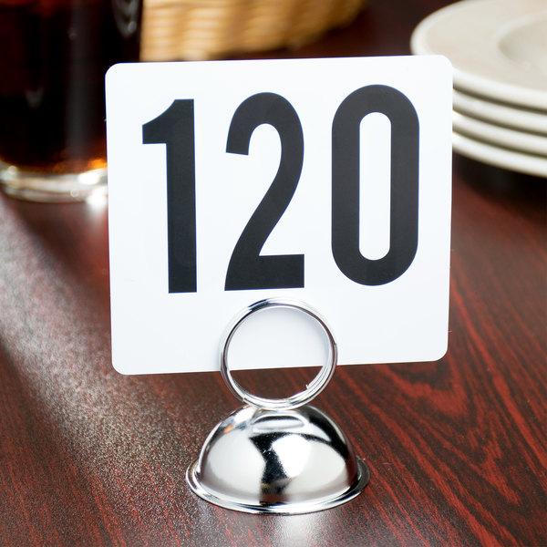 """2 1/2"""" Nickel-Plated Stainless Steel Ring-Type Menu / Card Holder"""