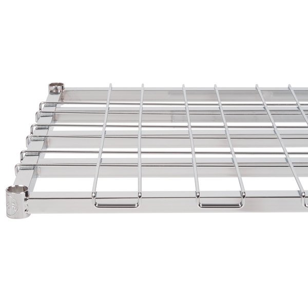 "Regency 24"" x 48"" Chrome Heavy-Duty Dunnage Shelf with Wire Mat - 800 lb. Capacity"
