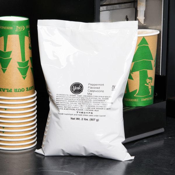 2 lb. York Peppermint Cappuccino Mix - 5/Case Main Image 3