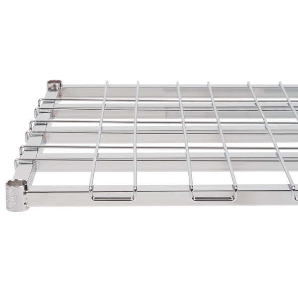 "Regency 24"" x 24"" Chrome Heavy-Duty Dunnage Shelf with Wire Mat - 800 lb. Capacity"