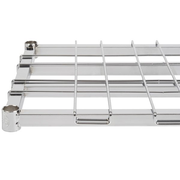 "Regency 18"" x 48"" Chrome Heavy-Duty Dunnage Shelf with Wire Mat - 800 lb. Capacity"