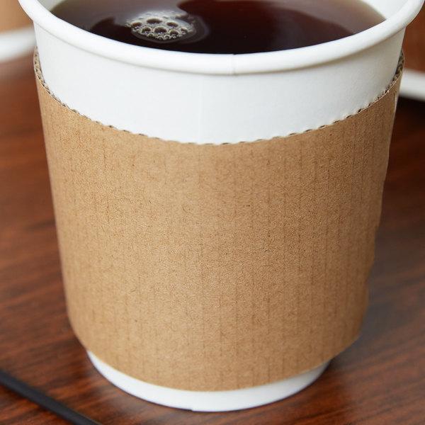 EcoChoice 10-20 oz. Kraft Coffee Cup Sleeve / Jacket / Clutch - 50/Pack