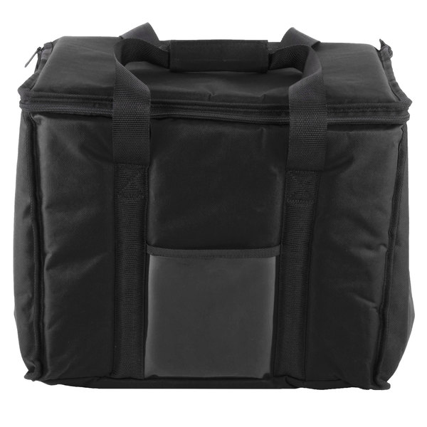 This Choice 15 X 12 Black Soft Sided Nylon Insulated Sandwich Take Out Hot Cold Delivery Bag Is Designed To Get Piping Or Ice Food