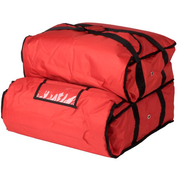 Servit Insulated Pizza Delivery Bag Red Soft Sided Heavy Duty Nylon 21 1 4 X 14 2 Dual Compartment