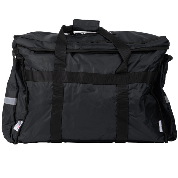ServIt Insulated Food Delivery Bag, Soft-Sided Heavy-Duty / Pan Carrier, Black Nylon, 22 inch x 13 inch x 16 inch - Holds Up To (6) 2 1/2 inch or (5) 3 inch Deep Full Size Food Pans