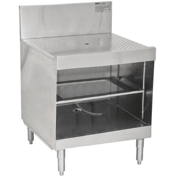 "Eagle Group WBGR24-24 Spec-Bar 24"" Glass Rack Storage Unit with Recessed Worktop"