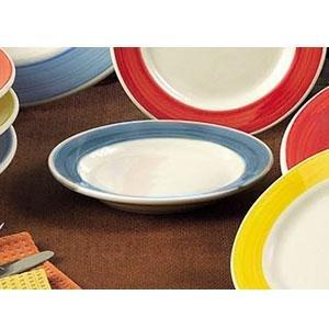 CAC R-11-BLU Rainbow 4.75 oz. Blue Rolled Edge Stoneware Grapefruit / Monkey Dish - 36/Case