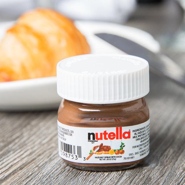 Nutella Hazelnut Spread .88 oz. Mini Glass Jar - 64/Case Main Image 2