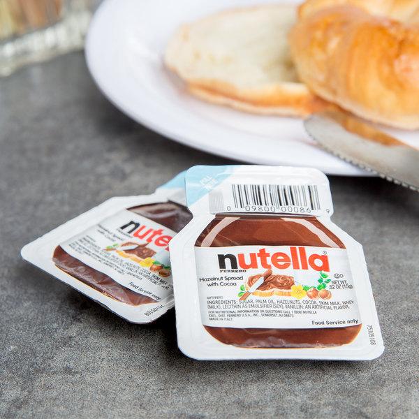 Nutella Hazelnut Spread .52 oz. Portion Control Pack - 120/Case