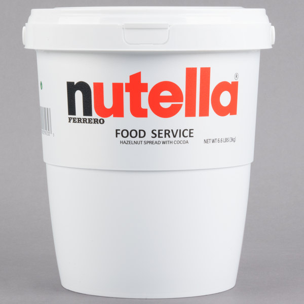 Nutella Hazelnut Spread 6.6 lb. Tub - 2/Case