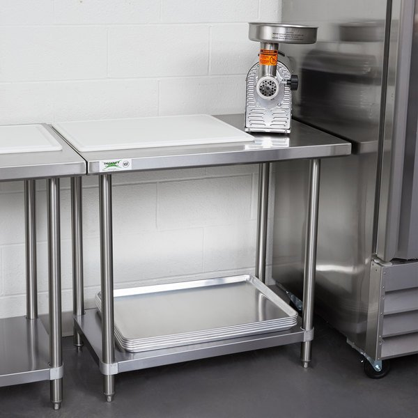 "Regency Spec Line 24"" x 36"" 14 Gauge Stainless Steel Commercial Work Table with Undershelf Main Image 3"