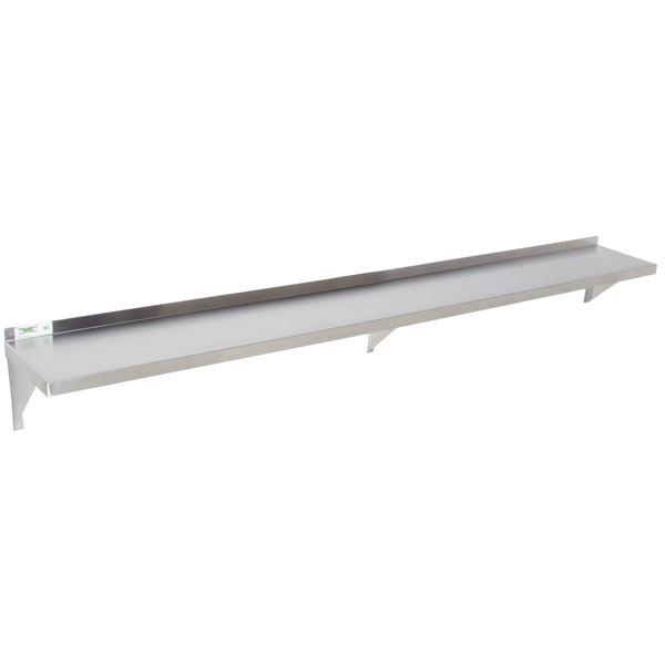 """Regency 18 Gauge Stainless Steel 12"""" x 96"""" Solid Wall Shelf"""