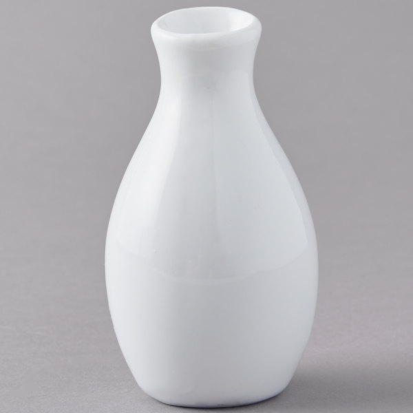 American Metalcraft Bvjgg4 2 X 3 78 White Ceramic Jug Vase