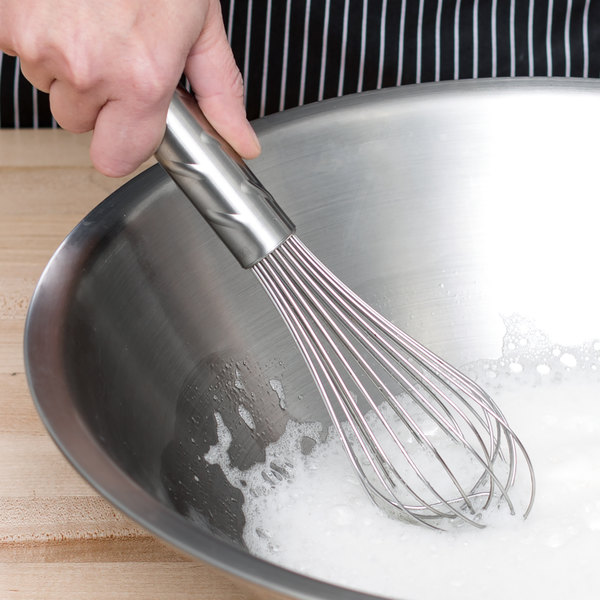 """Vollrath 47255 Jacob's Pride 10"""" Piano Whip/Whisk with Stainless Steel Handle"""