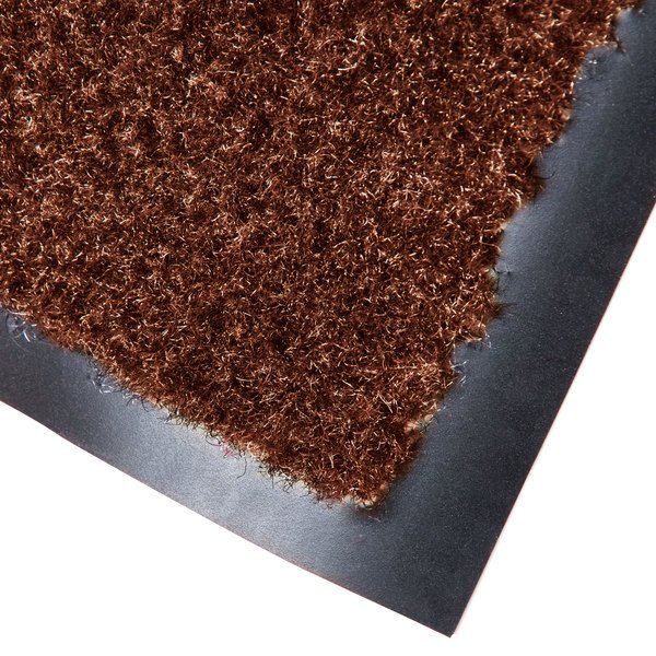 "Cactus Mat 1437R-CB3 Catalina Standard-Duty 3' x 60' Chocolate Brown Olefin Carpet Entrance Floor Mat Roll - 5/16"" Thick"