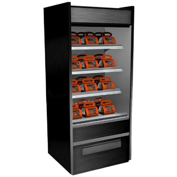 "Structural Concepts B3632H Oasis Black 36 1/2"" Heated Self-Service Display Case / Merchandiser - 208/240V"