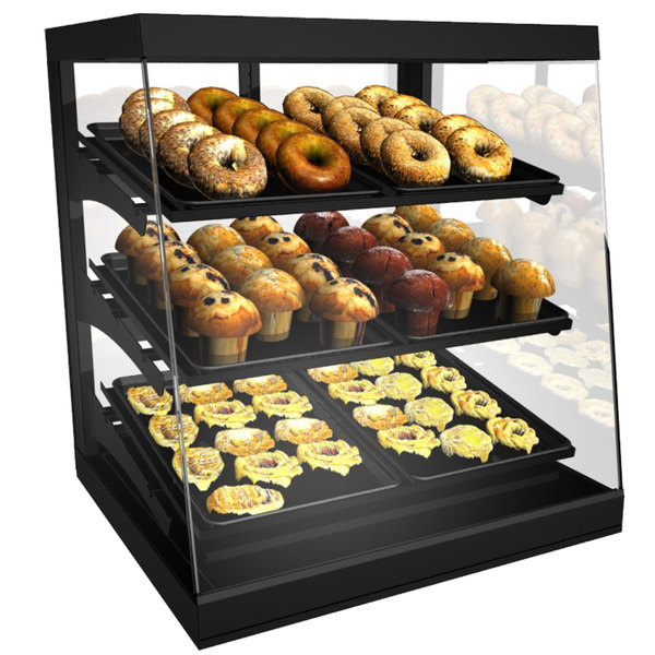 "Structural Concepts CGS3830 Impulse Black 38"" Countertop Bakery Display Case with Swinging Rear Doors Main Image 1"