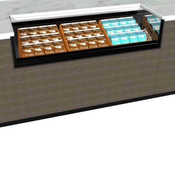 "Structural Concepts CO53RM-UC Oasis Black 59 1/4"" Undercounter Air Curtain Milk Crate Merchandiser"