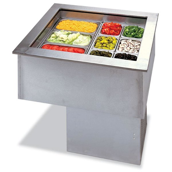 APW Wyott FACW-3 Three Pan Drop In Forced Air Refrigerated Cold Food Well