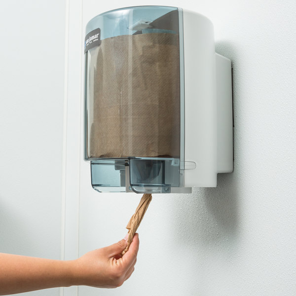 San Jamar T400TBL Center Pull Towel Dispenser - Arctic Blue