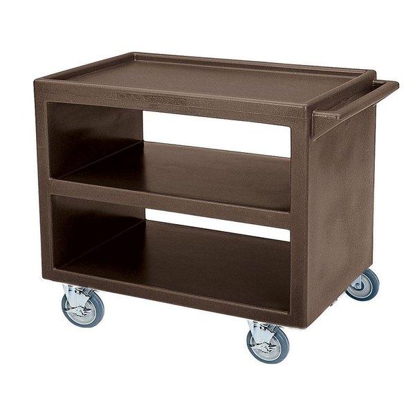 "Cambro BC2354S Dark Brown Three Shelf Service Cart - 37 1/4"" x 21 1/2"" x 34 5/4"" Main Image 1"