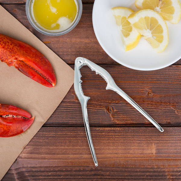 """Choice 6"""" Double Jaw Zinc-Plated Steel Lobster Cracker"""