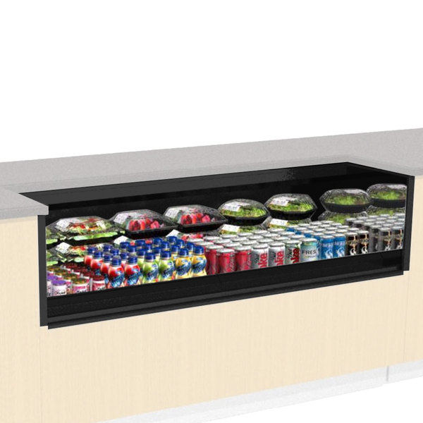 """Structural Concepts CO63R-UC Oasis Black 71 1/4"""" Undercounter Air Curtain Merchandiser Main Image 1"""