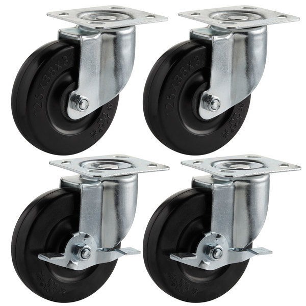 "Cooking Performance Group 4 3/4"" Plate Casters - 4/Set Main Image 1"