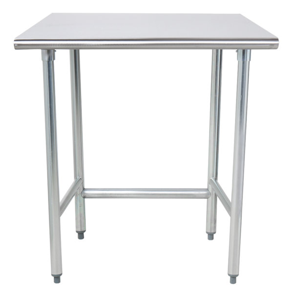 """Advance Tabco TAG-303 30"""" x 36"""" 16 Gauge Open Base Stainless Steel Commercial Work Table"""