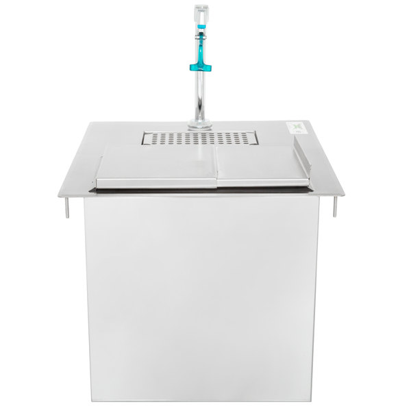 "Regency Stainless Steel Water Station with Ice Bin - 21"" x 18"""