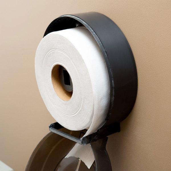 YJ YANJUN Jumbo Toilet Tissue Dispenser Black Glossy 9 Inch Roll with 2.5 Core