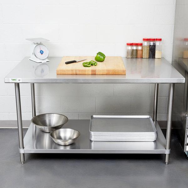 "Regency 36"" x 60"" 16 Gauge Stainless Steel Commercial Work Table with Undershelf Main Image 3"