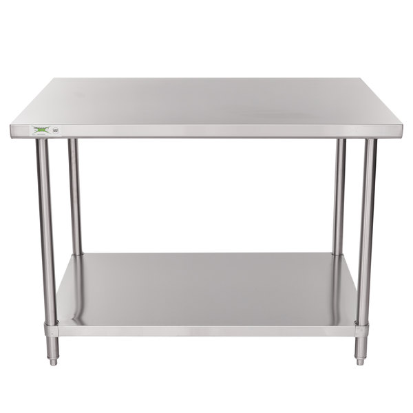 Regency X Gauge Stainless Steel Commercial Work Table - 36 x 48 stainless steel table
