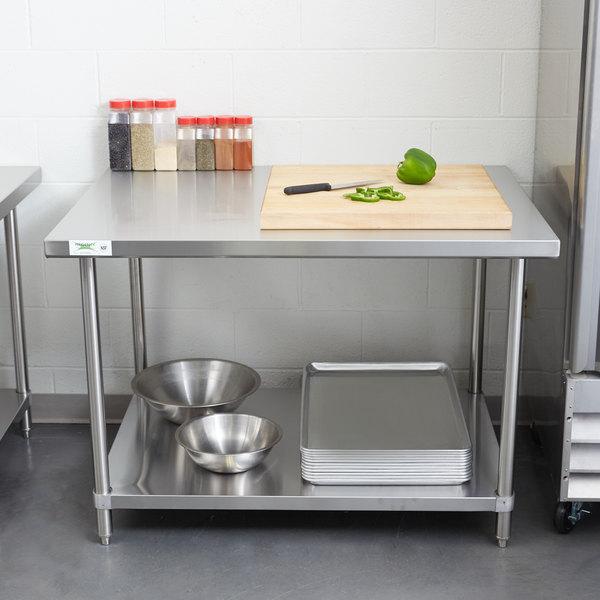 "Regency 36"" x 48"" 16 Gauge Stainless Steel Commercial Work Table with Undershelf"