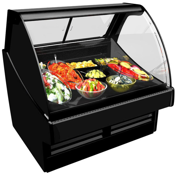 "Structural Concepts GLDS6R Fusion 75 3/8"" Curved Glass Refrigerated Deli Display Case Main Image 1"