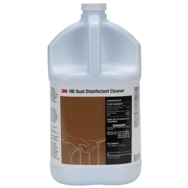 3M 23556 1 Gallon / 128 oz. HB Quat Disinfectant Cleaner Concentrate - 4/Case