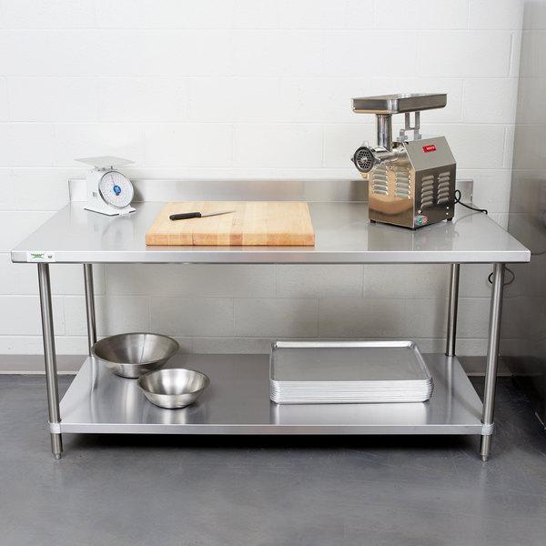 Regency Spec Line X Gauge Stainless Steel Commercial Work - Small stainless steel work table