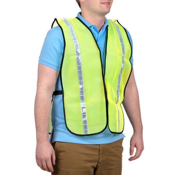 """Lime High Visibility Safety Vest with 1"""" Reflective Tape Main Image 1"""
