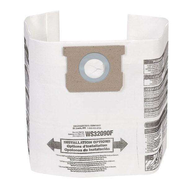 Workshop WS32090F 5-9 Gallon Dust Collection Bag - 2/Pack