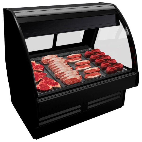"""Structural Concepts GMG4 Fusion 51"""" Curved Glass Refrigerated Meat / Seafood Display Case"""