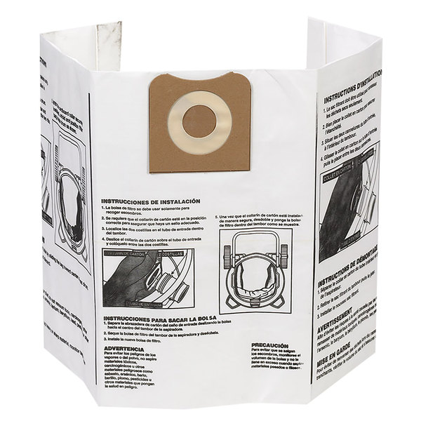 Workshop WS32200F2 12-16 Gallon Dust Collection Bag - 4/Pack