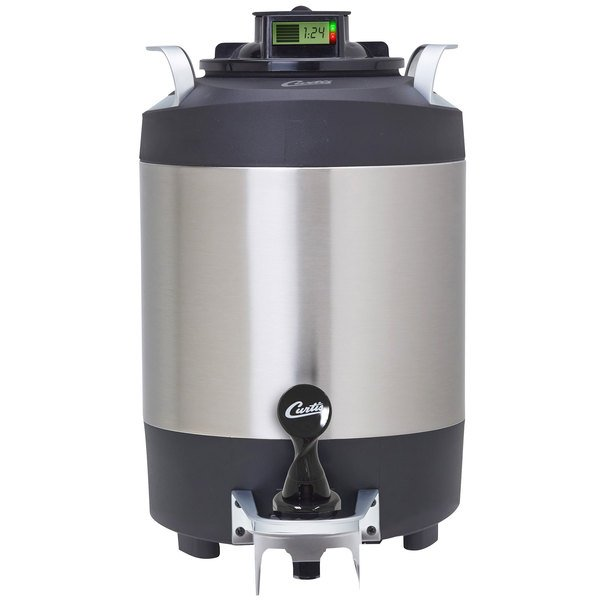 Curtis TFT15G2 FreshTrac 1.5 Gallon Thermal Stainless Steel Coffee Server with Brew Through Lid Main Image 1