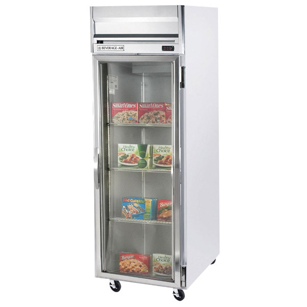 """Beverage-Air HF1-1G-LED Horizon Series 26"""" Glass Door Reach-In Freezer with LED Lighting"""