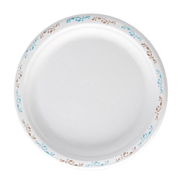 Huhtamaki Chinet 22515 6 inch Round Molded Fiber Plate with Vines Design - 1000/Case