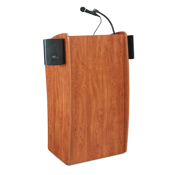 Oklahoma Sound 611S-CH Wild Cherry Finish Vision Lectern with Sound